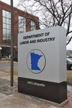 Department of Labor and Industry sign